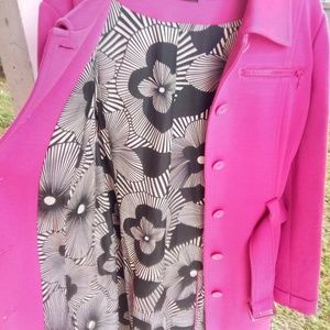 Ideology Jackets & Coats - 🆕 Women's Ideology Pink Long Coat Belted Large
